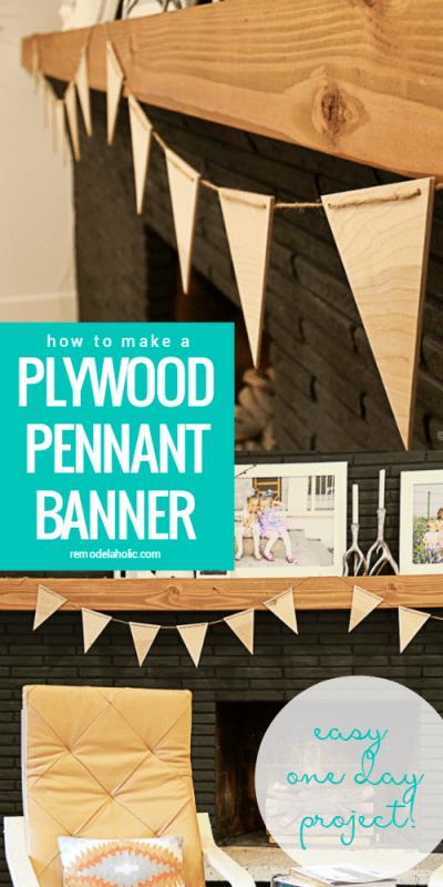Easy DIY Plywood Pennant Banner @Remodelaholic #PlywoodPretty