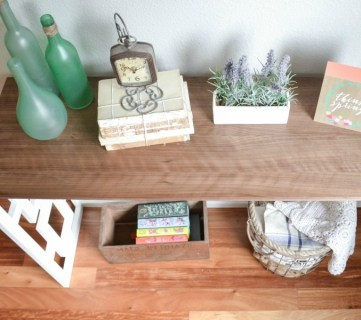 Feat Fretwork Console Table Tutorial By The Created Home Featured On @Remodelaholic