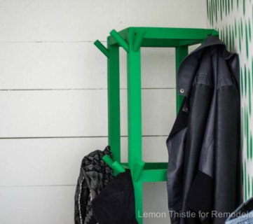 Feat Wooden Cube Coat Rack Diy Rm 17022111