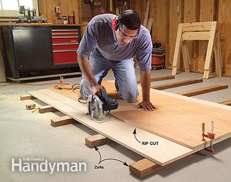 How To Cut Plywood With A Circular Saw, Family Handyman