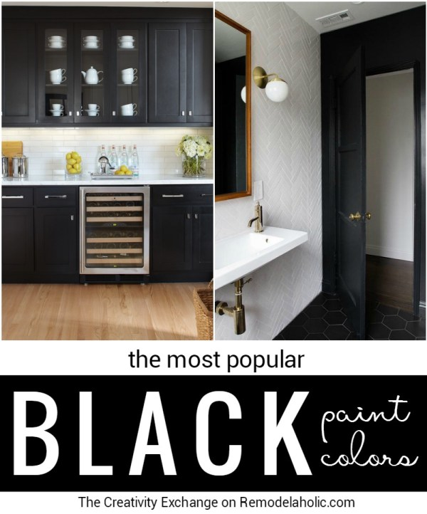 Most Popular Black Paint Colors For Walls, Doors, And Cabinets @Remodelaholic Crop