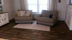 Plywood Plank Flooring, Courtney Robertson 7 31 16, Stained Jacobean 2, Featured On @Remodelaholic