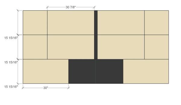 Remodelaholic Plywood Toybox Cut Diagram