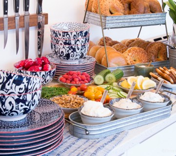 Fun Bagel Buffet for an Easy Brunch Party