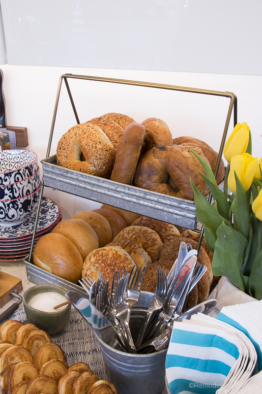 Remodelaholic Fun Bagel Buffet For An Easy Brunch Party