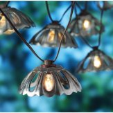 Better Homes And Gardens Galvanized Finish Metal Hood Lantern String Lights, 10ct