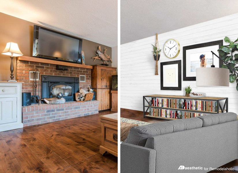 Remodelaholic | Real Life Rooms: A Modern Country Living Room Makeover