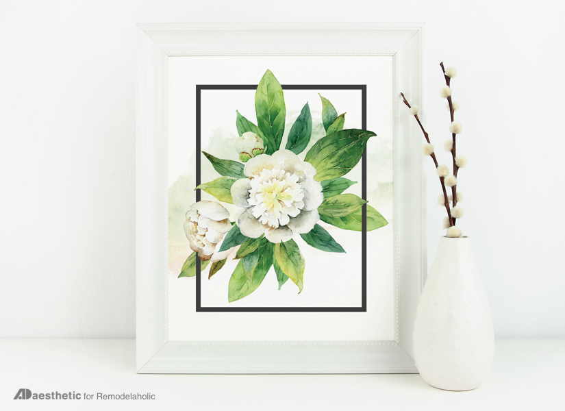 photo relating to Floral Printable referred to as Remodelaholic Absolutely free Watercolor Floral Print