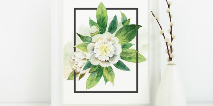 Free Watercolor Floral Print