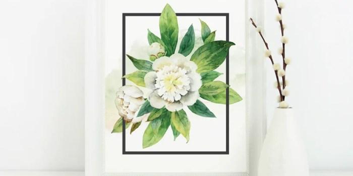 Free Watercolor Floral Print