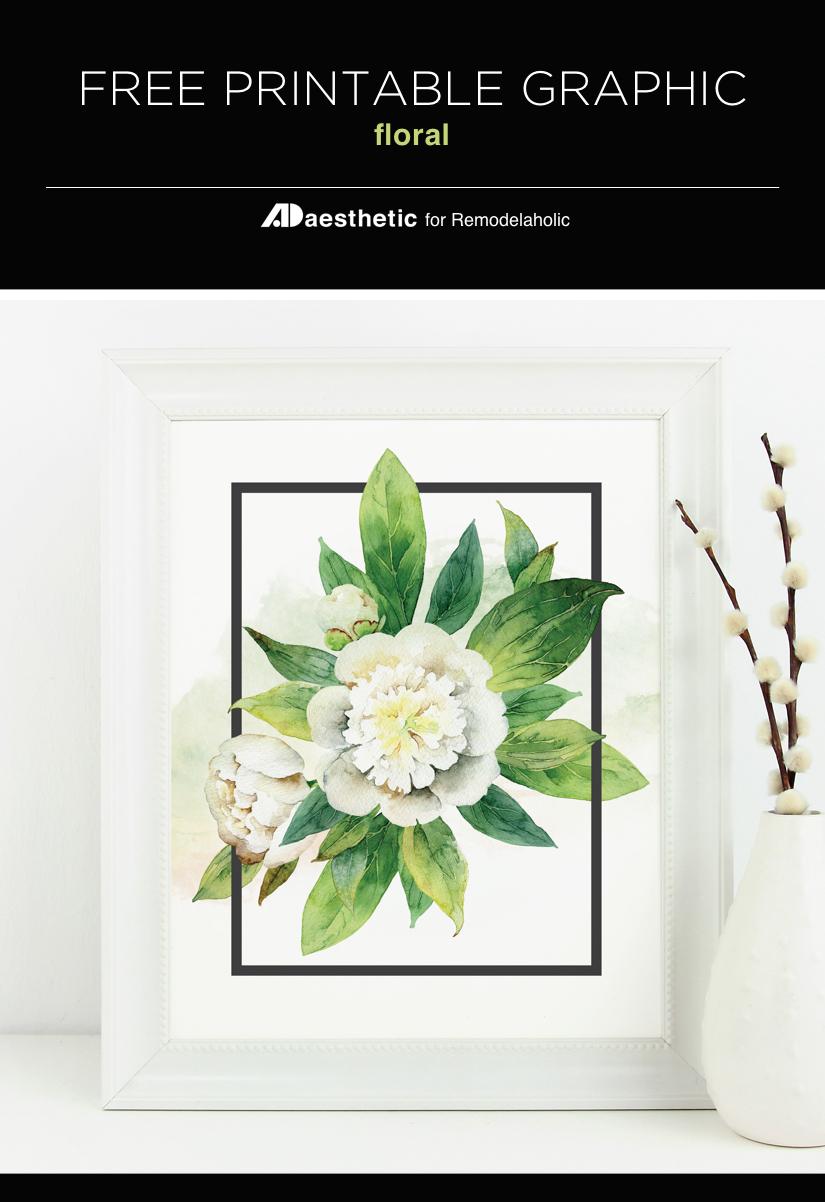 Remodelaholic | Free Watercolor Floral Print