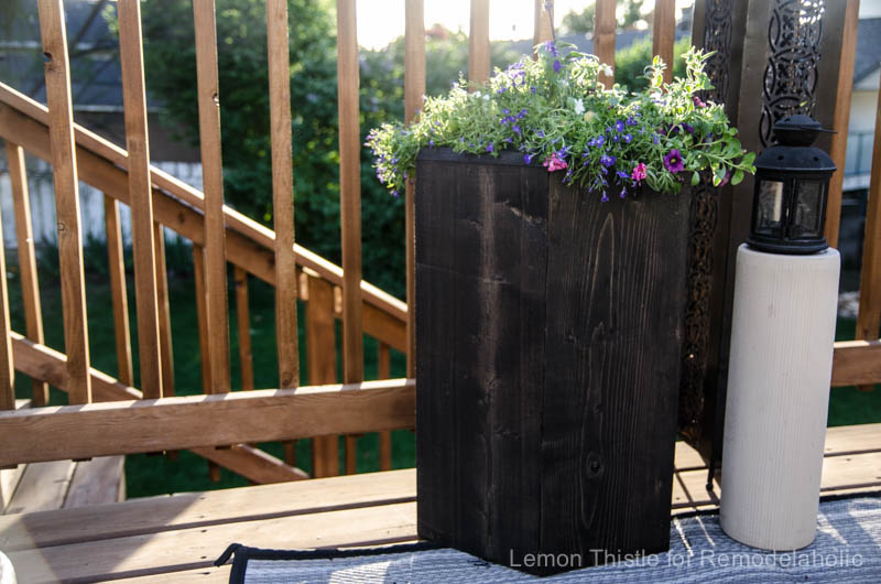 I love this patio hexagon planter made from a 2x8!