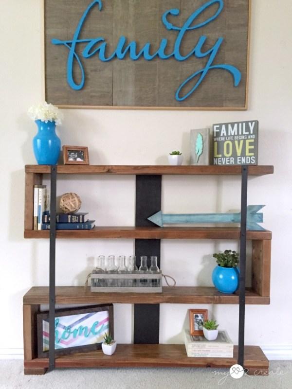 Industrial Narrow Bookshelf Front, MyLove2Create