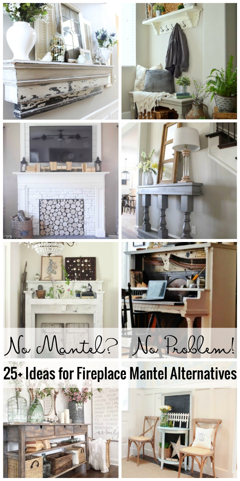 No Mantel No Problem! 25+ Ideas For Fireplace Mantel Alternatives Featured  On Remodelaholic.