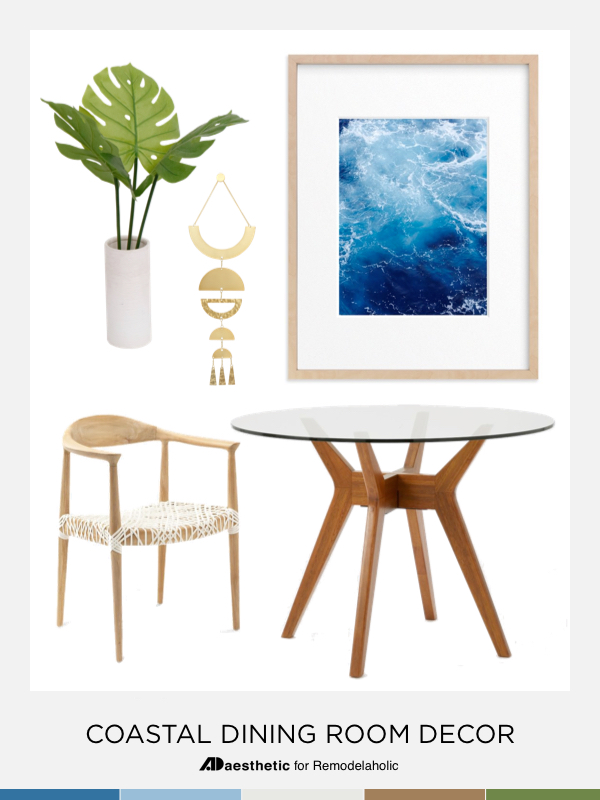 Inspiration and tips for decorating a casual coastal dining room | get the look | beach house