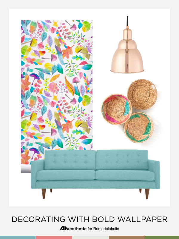 Decorating with Bold Wallpaper | Pin Image