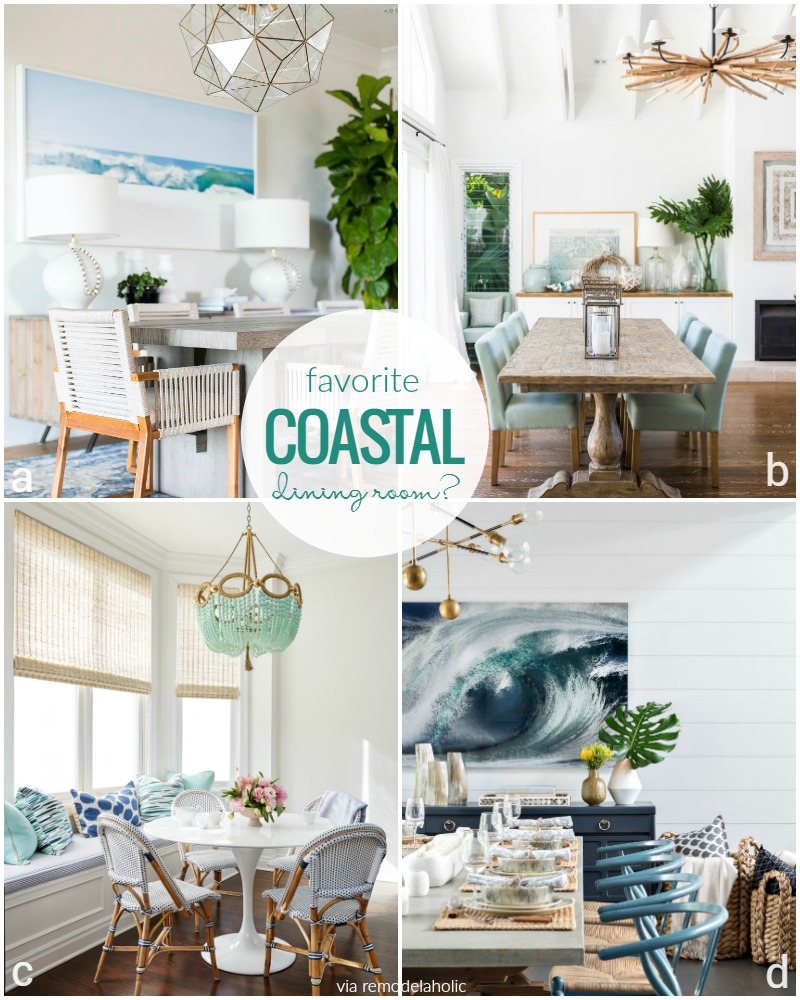 Perfect Coastal Dining Room Inspiration @Remodelaholic