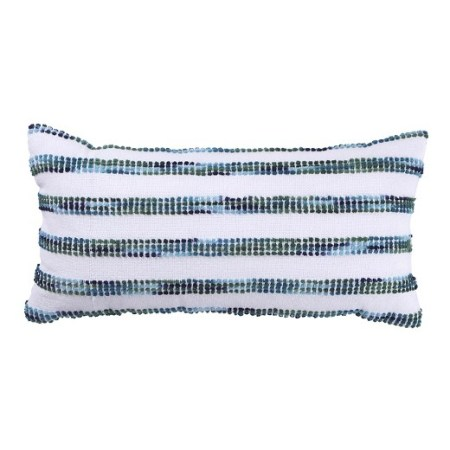 Coastal Dining Room Striped Pillow