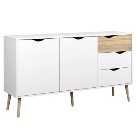 Coastal Dining Room White Sideboard