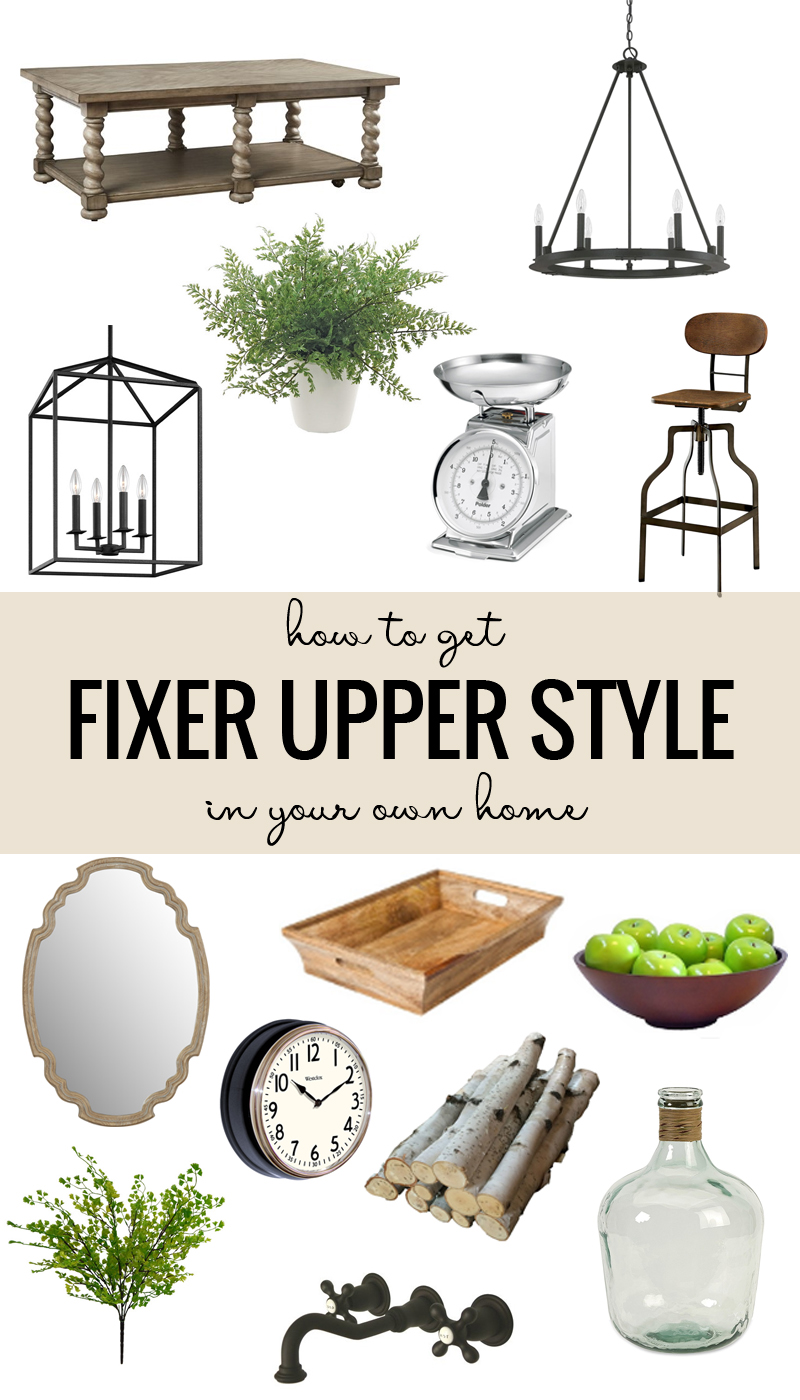 Learn simple tips and tricks for getting the Fixer Upper style in your own home. Includes a shopping guide for home decor used in the show and other farmhouse elements!