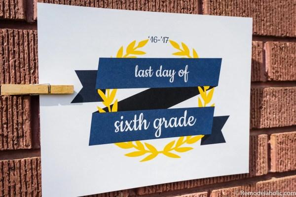 Printable Last Day Of School Signs, Set Of 3 Designs @remodelaholic (2)