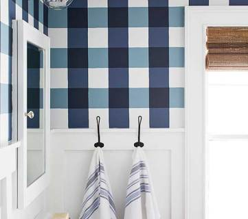 Get This Look: Buffalo Check Farmhouse Bathroom