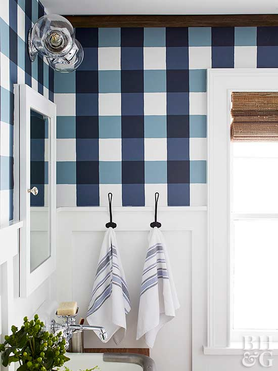 Buffalo Check Bathroom via BHG