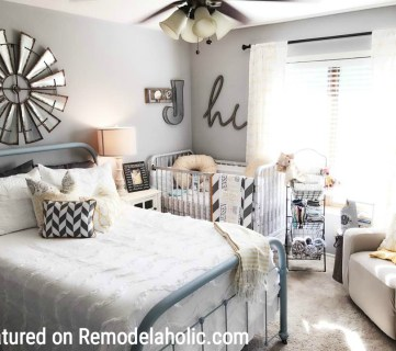 Farmhouse Nursery Guest Room Combo Featured On Remodelaholic.com