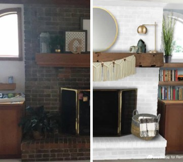 Brick Fireplace Facelift Featured Image