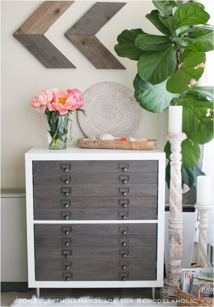 Kallax Flat File Cabinet Makeover Finished Project