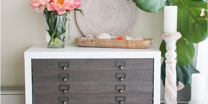IKEA Hack: Kallax into Flat File Cabinet + Drawers
