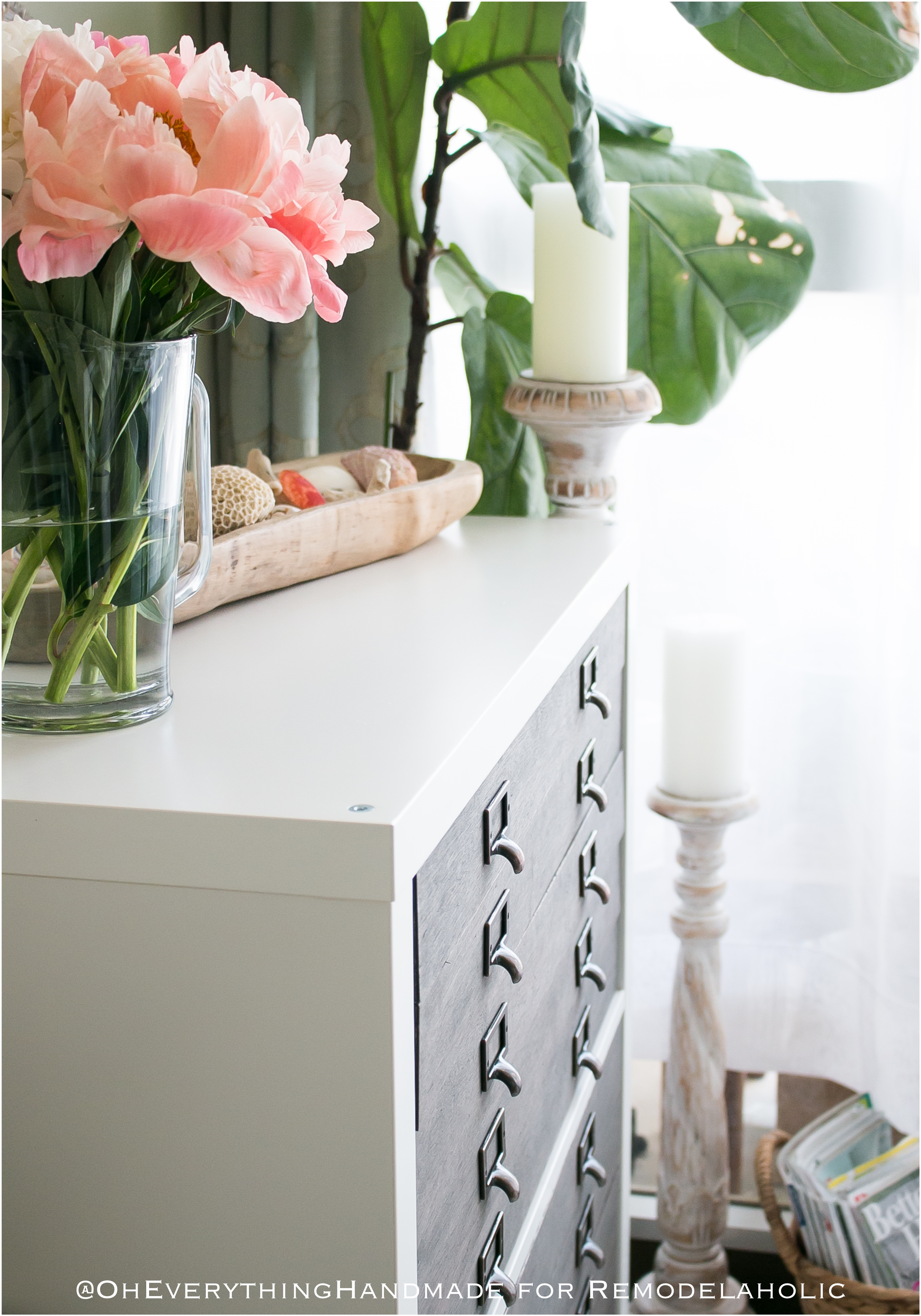 Attirant IKEA Hack: Kallax Cube Shelf Into Card Catalog Style Flat File Cabinet With  Drawers