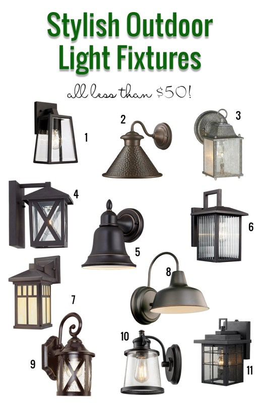 Stylish Outdoor Light Fixtures That are Under $50. So many great options!