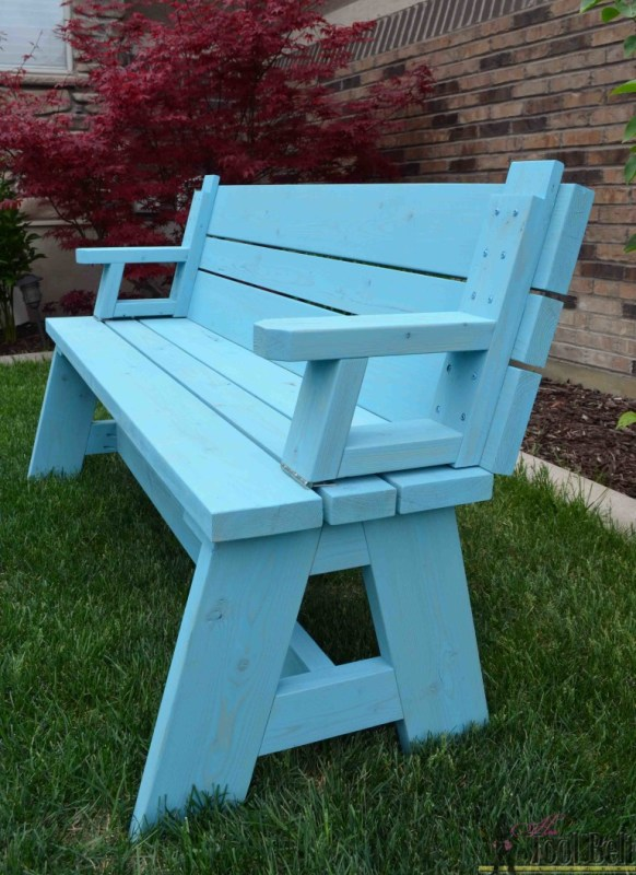 Convertabile Picnic Table Bench Her Tool Belt