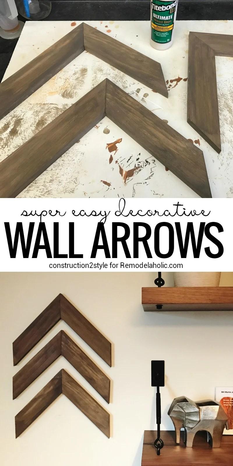 Remodelaholic | Easy DIY Wooden Arrow Wall Decor Tutorial on Pinterest Wall Decor  id=42132