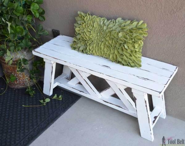Outdoor Bench 2x4 Hertoolbelt