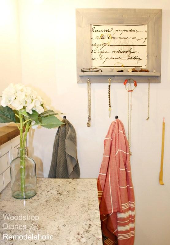 How to Build a Simple DIY Jewelry Organizer with Shelf