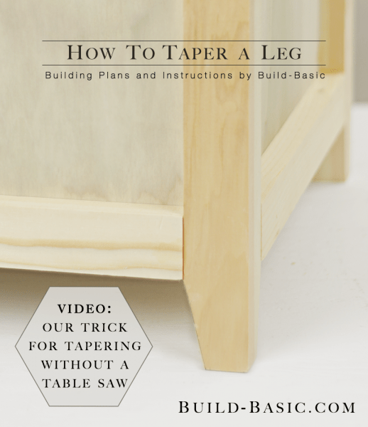 2x2 Projects, How To Taper A Furniture Leg, Build Basic
