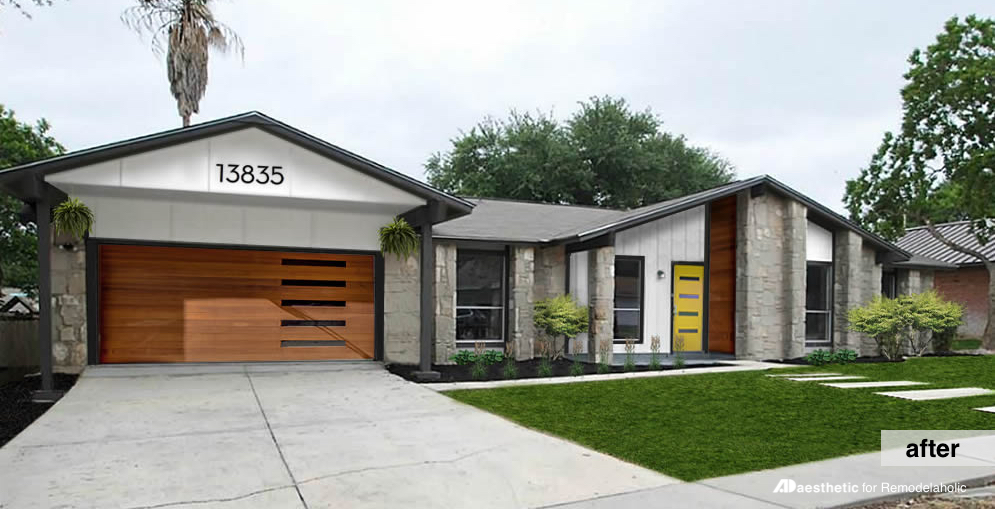 Remodelaholic Real Life Rooms Mid Century Modern Curb Appeal Makeover
