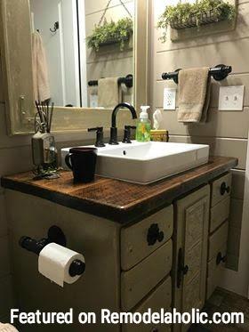 Bathroom Remodel Featured On Remodelaholic.com