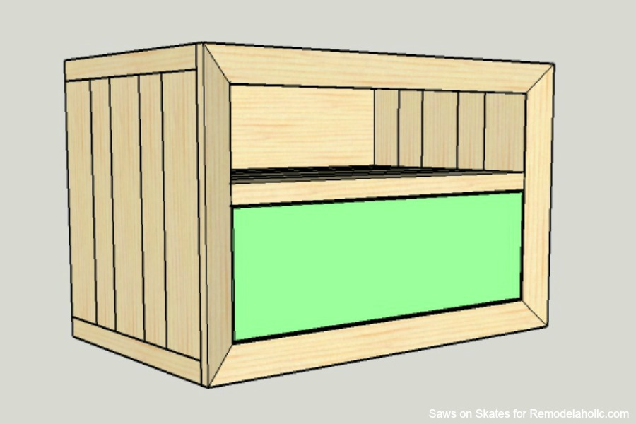 Chunky Nightstand Saws On Skates Drawer Front Installation