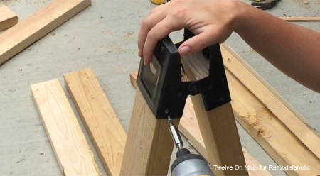 DIY Sawhorse Sofa Table by Twelve On Main for Remodelaholic