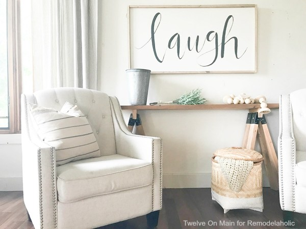 DIY Sawhorse Sofa Table21