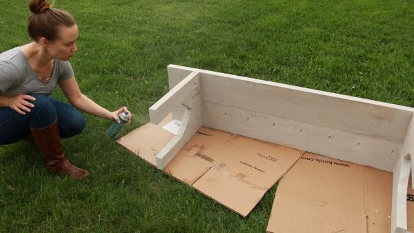 Easy Farmhouse Bench Spraying All Weather Poly