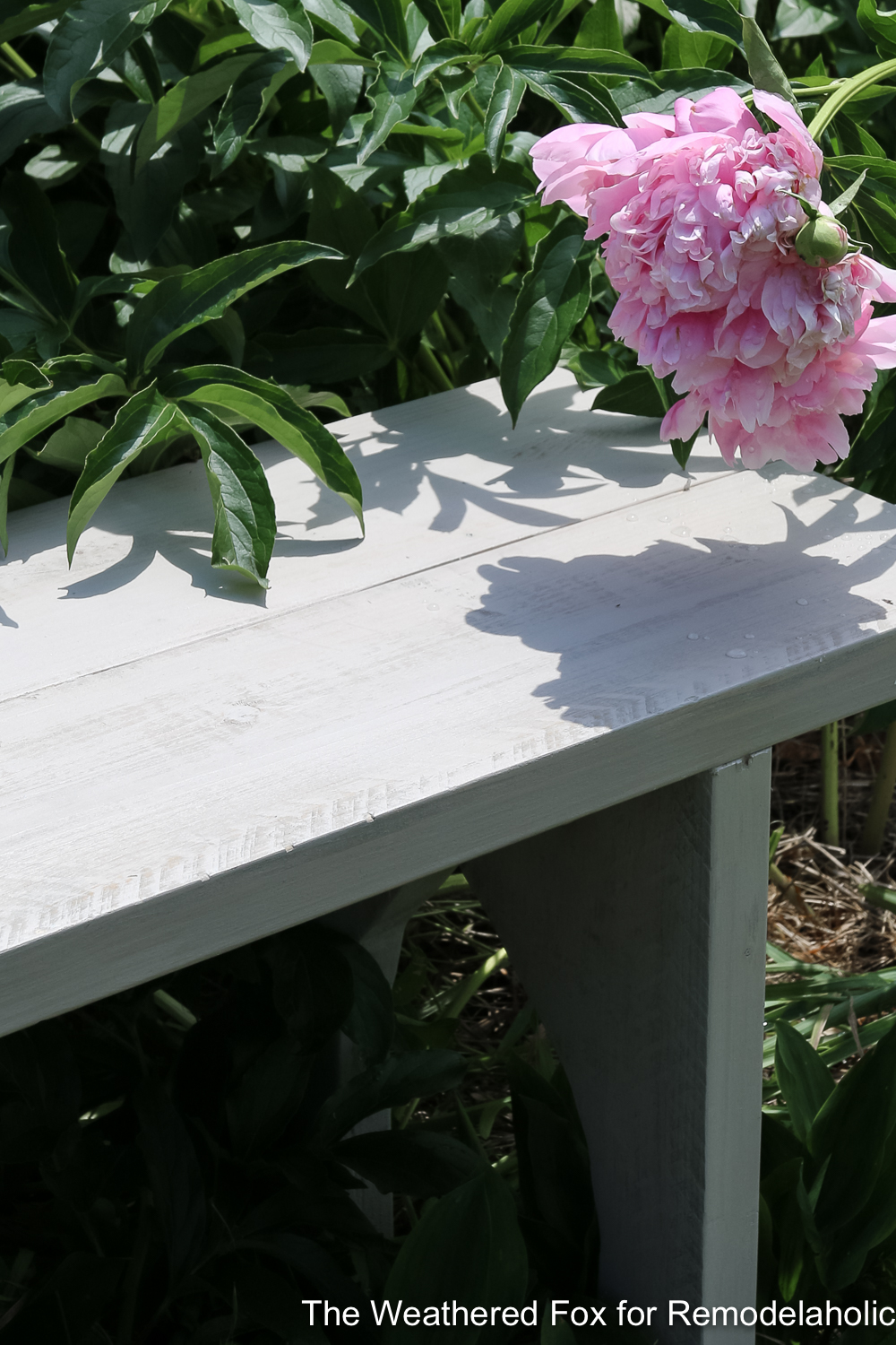 Easy Farmhouse Bench From Inexpensive Lumber Remodelaholic The Weathered Fox 8