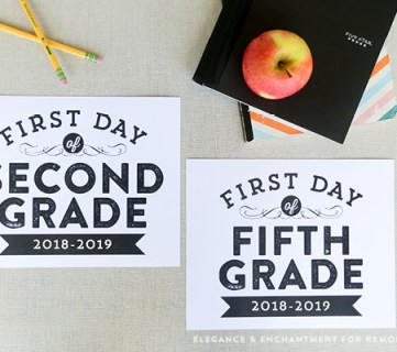 Printable First Day of School Signs (Updated for 2018-2019)