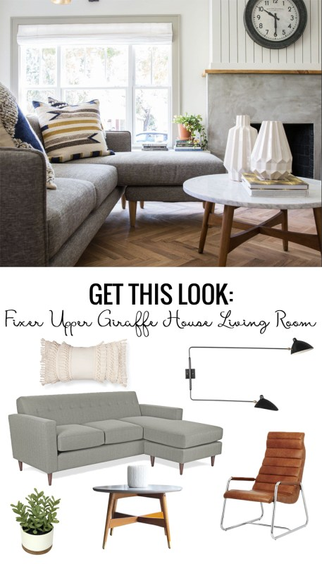 Fixer Upper Giraffe House Living Room
