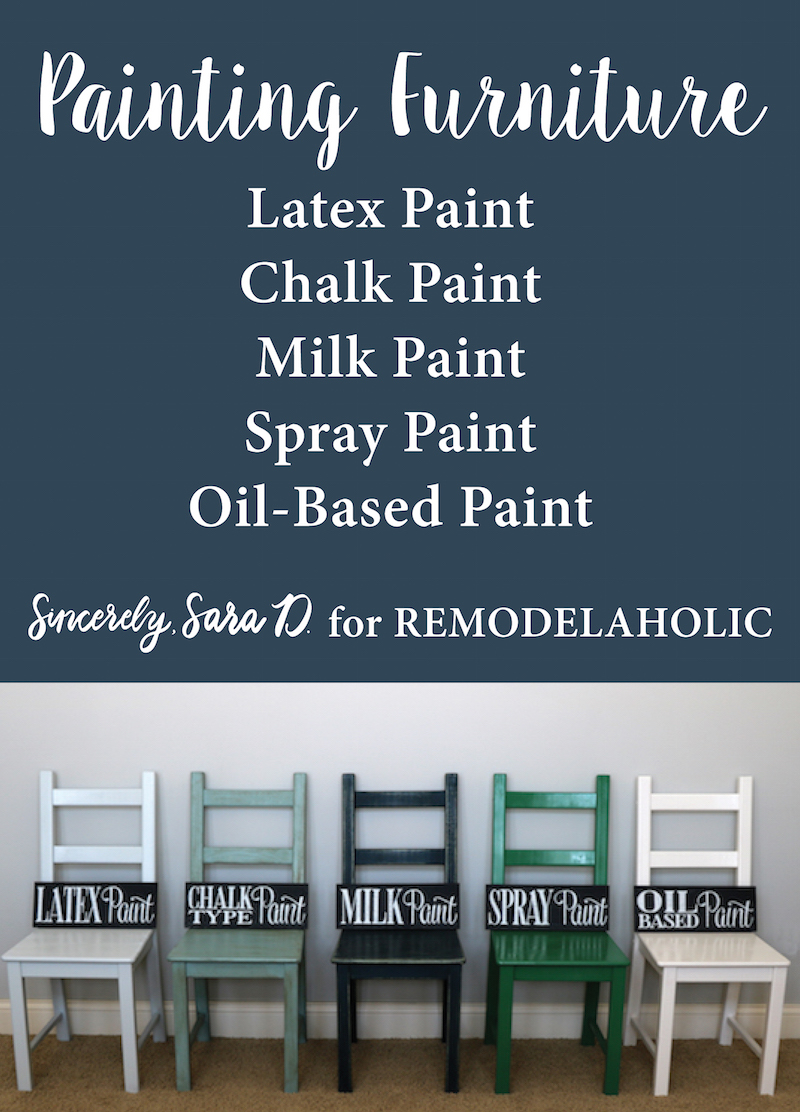 Remodelaholic painting furniture tips for using 5 for Is latex paint oil based