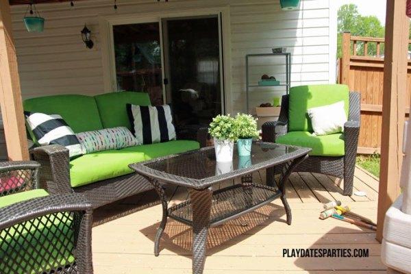 Spray Painted Patio Cushions 4