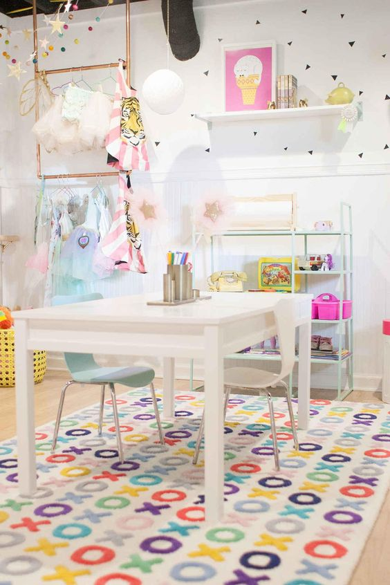 Remodelaholic Colorful Girls Playroom Decor And Inspiration
